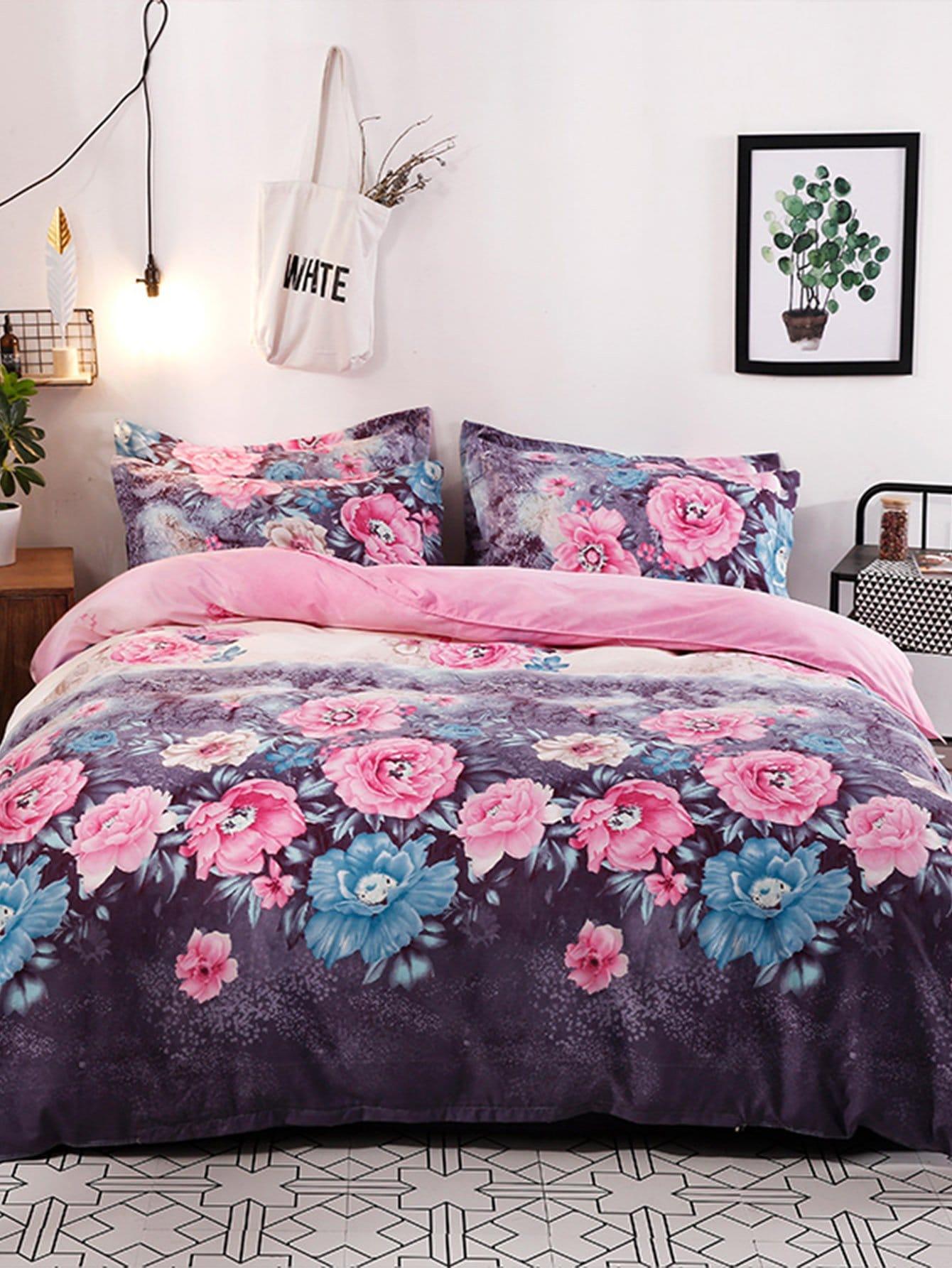 Allover Flower Print Sheet Set