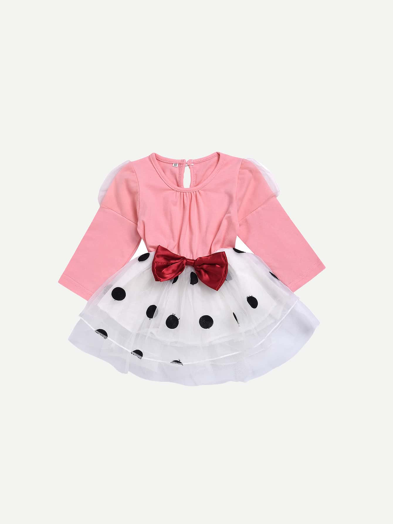 Girls Bow Detail Polka Dot Dress 2017 new brand baby girls summer dress kids white bow dress for girls children navy leisure fashion girls clothes