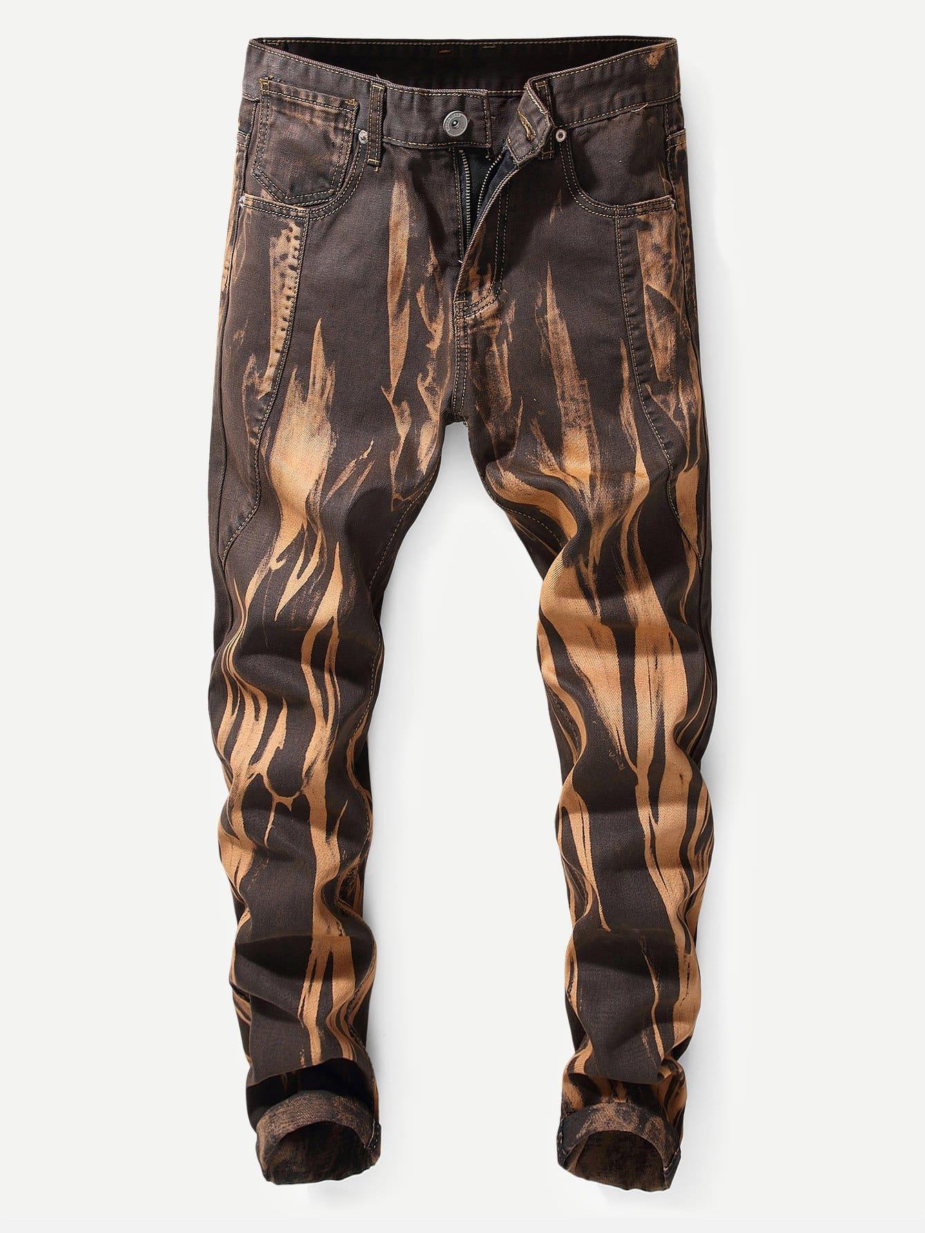 Купить Облегающие джинсы и рольный подол для мужчины, null, SheIn