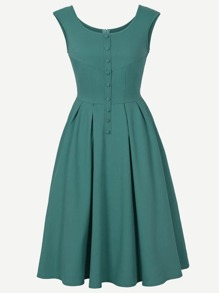 Single Breasted Zip Back Dress