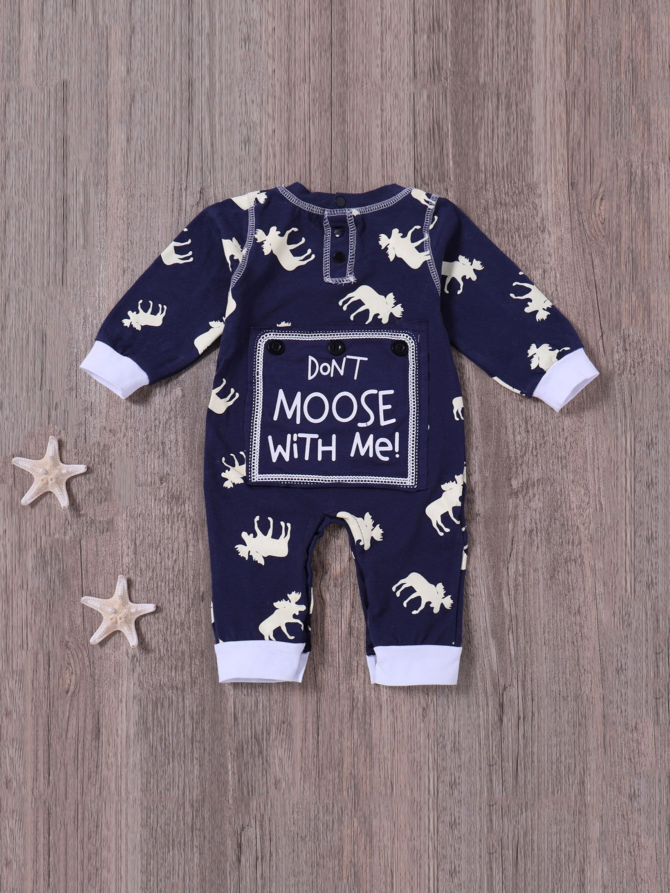 Boys Animal And Letter Print Jumpsuits