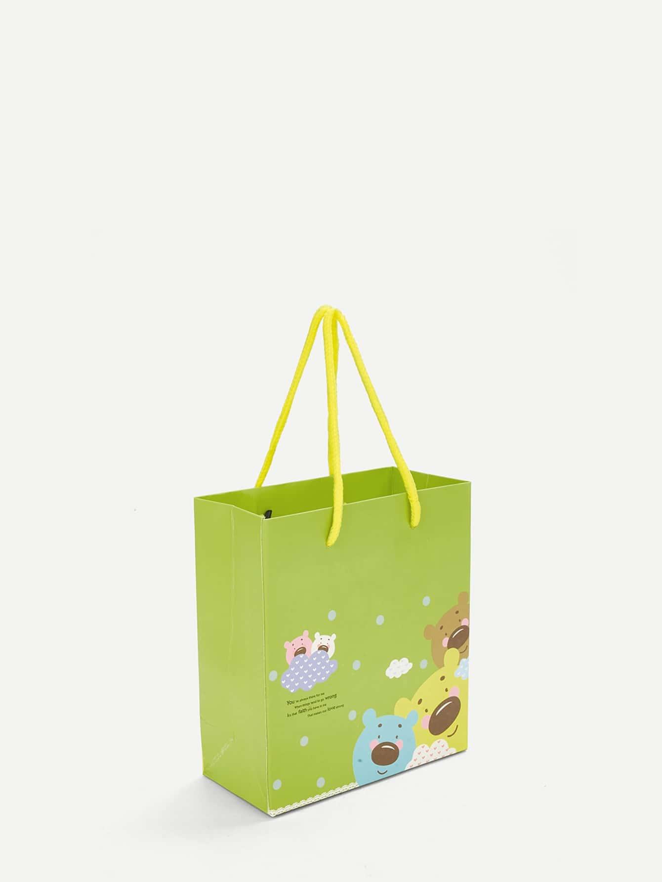 Бумажный бумажный мешок с медным принтом