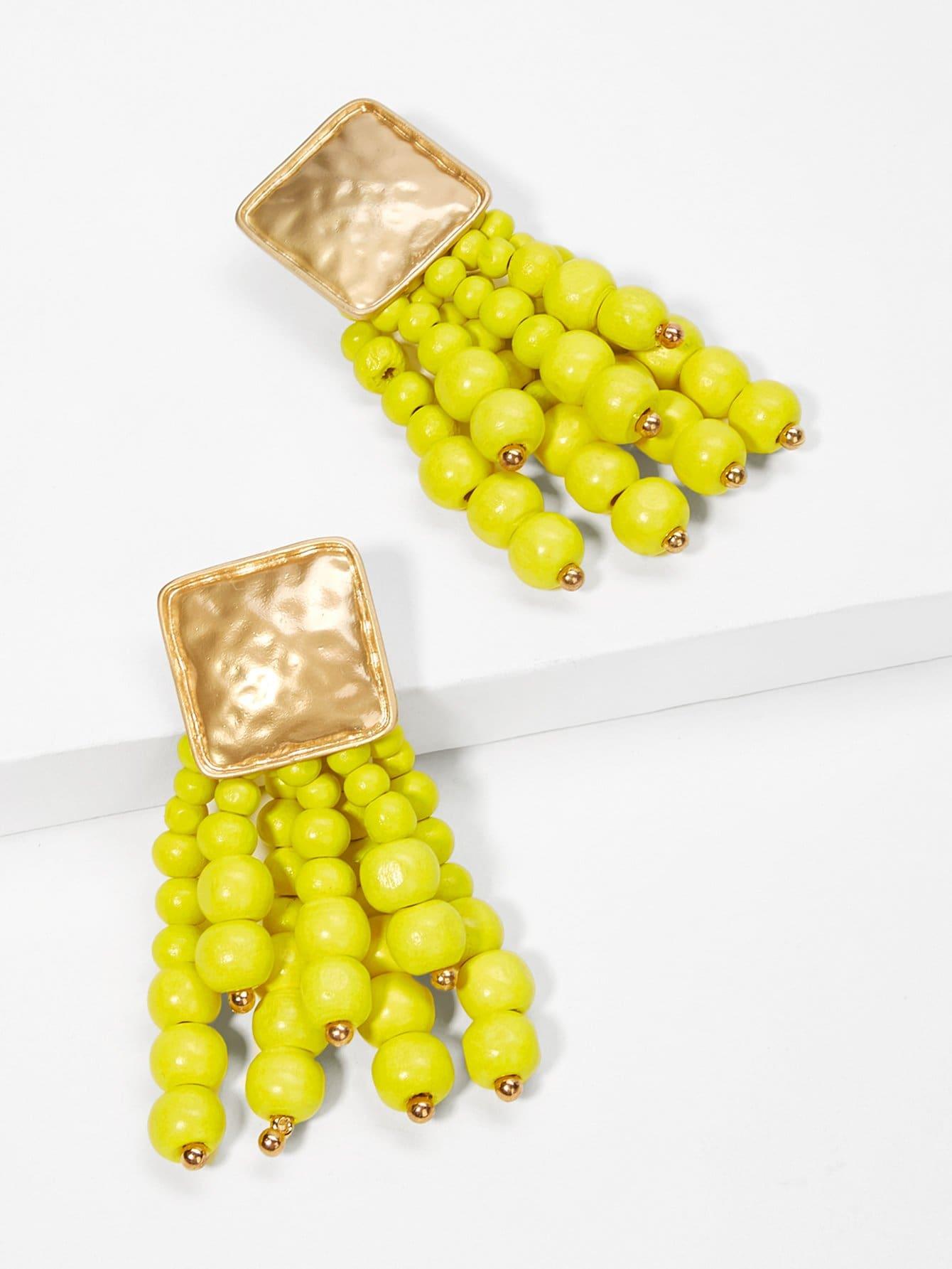 Купить Серьги с подвесками жемчугов и кисти, null, SheIn