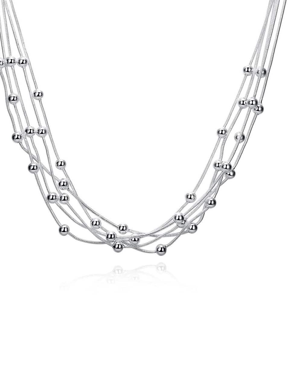 Купить Накрахмаленное ожерелье с украшением металлического шара, null, SheIn
