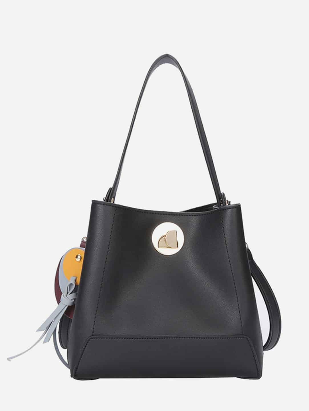 Tassel Detail Grab Bag buckle detail flap grab bag