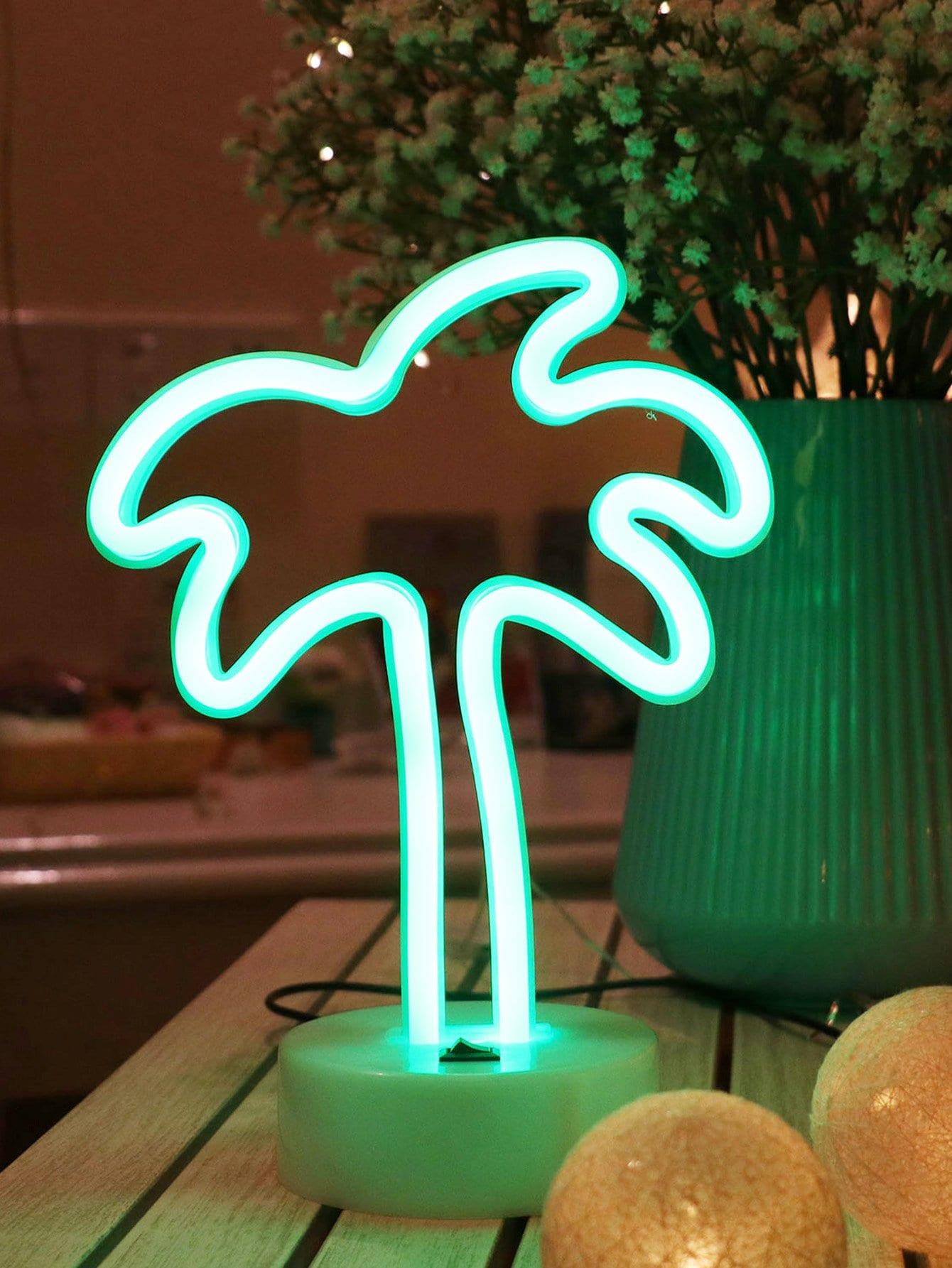 Купить Настольная неоновая лампа в форме кокосово1 пальмы, null, SheIn
