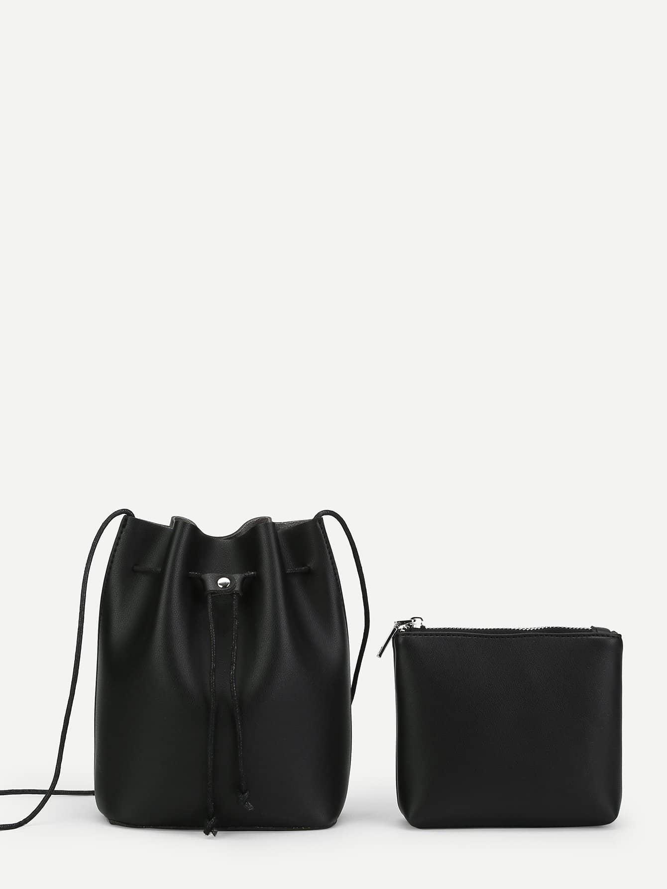 Купить PU Сумка в форме ведро и с маленькой сумкой, null, SheIn