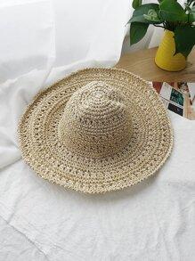 Woven Straw Floppy Hat