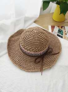 Bow Detail Straw Hat