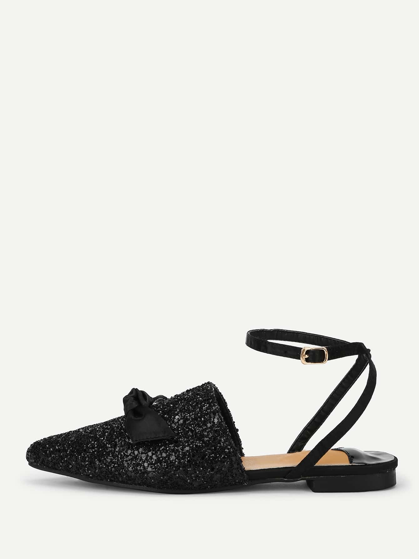 Knot Detail Pointed Toe Flats цена 2017
