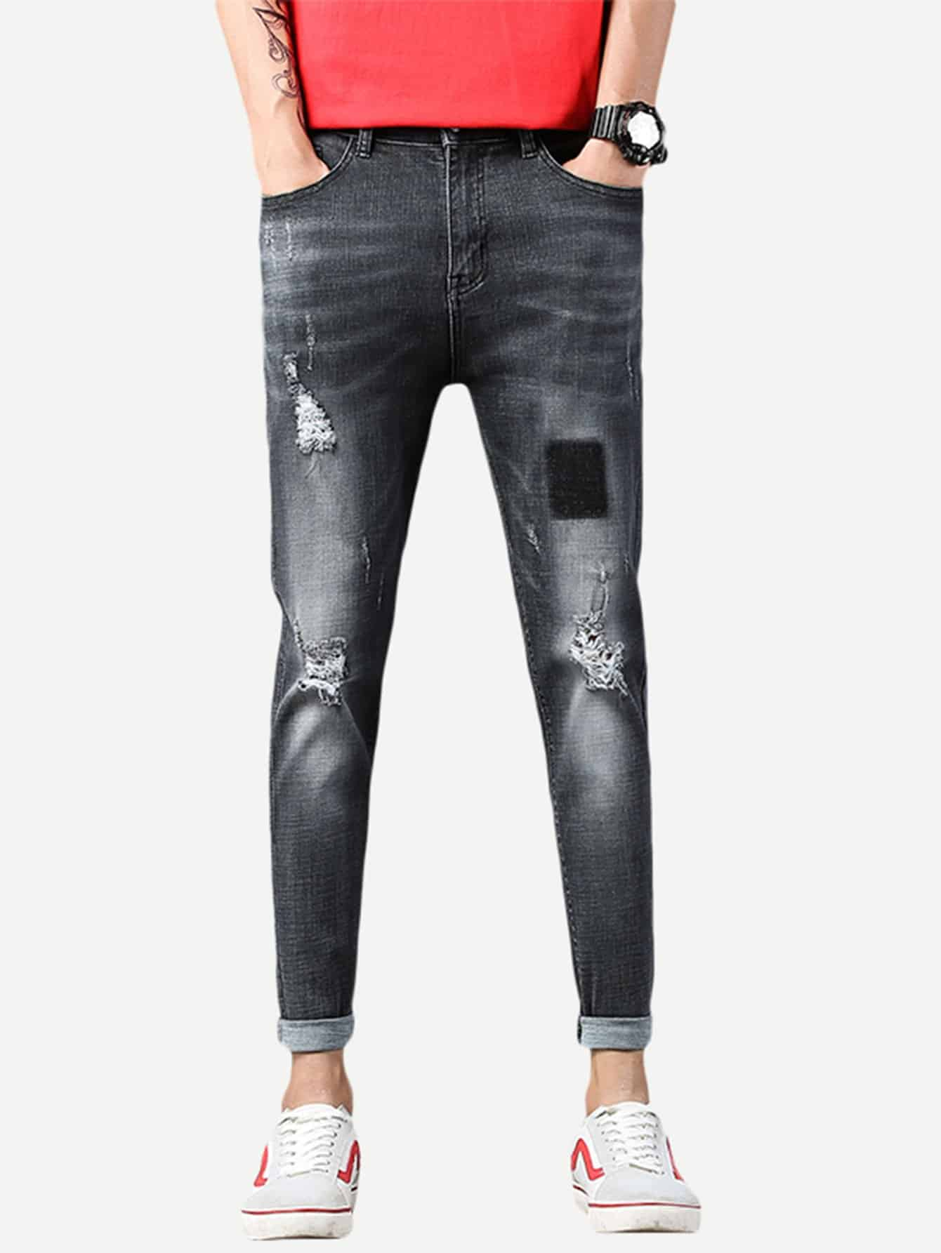 Men Destroyed Skinny Jeans destroyed skinny jeans