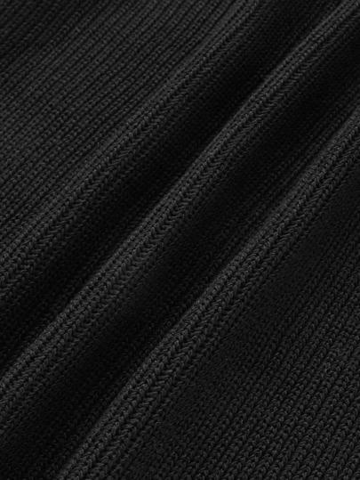Romwe / Open Back Solid Knit Dress