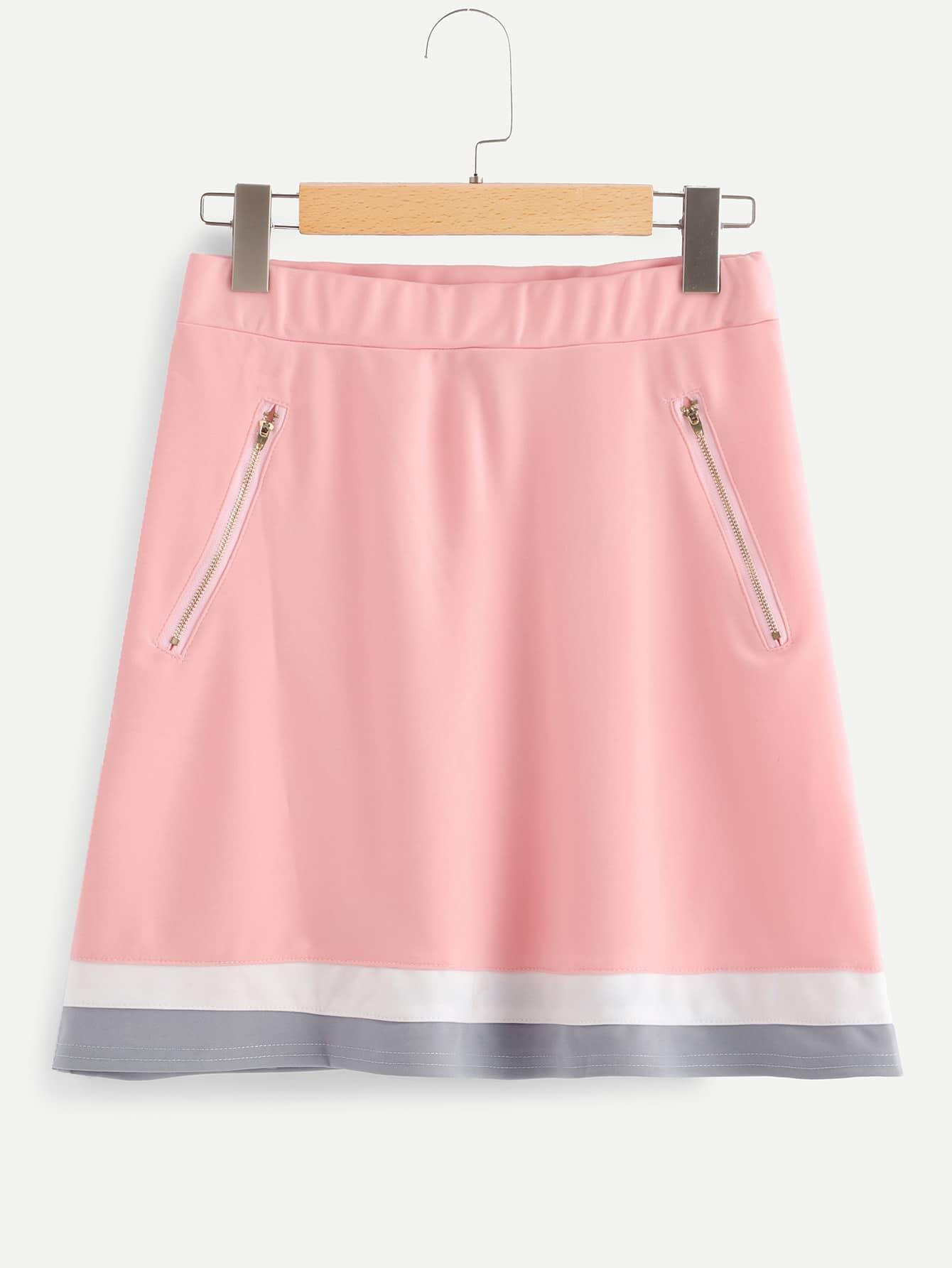 Zip Up Front Skirt