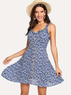 Fit & Flared Floral Cami Dress