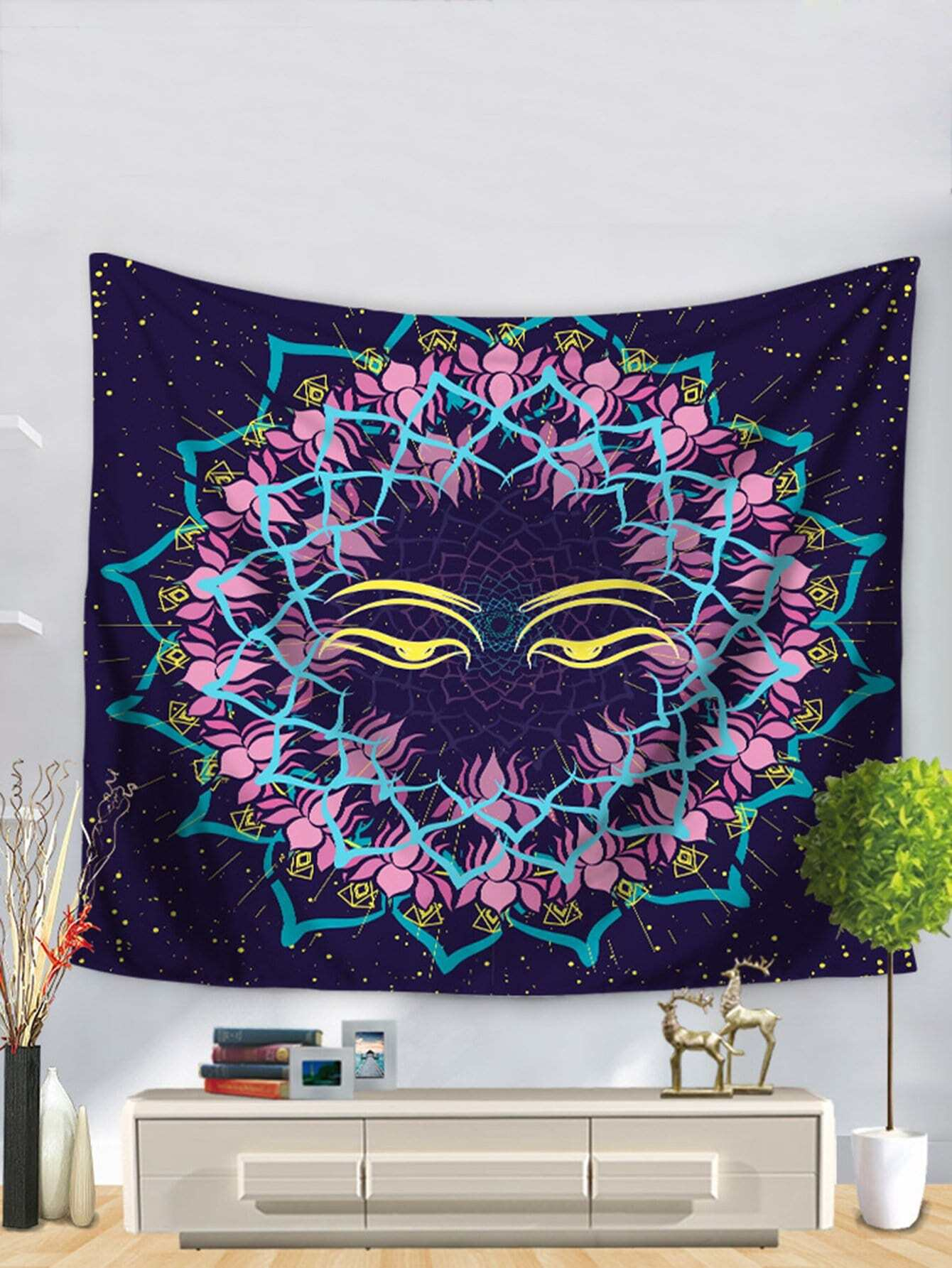 Lotus Flower Pattern Tapestry