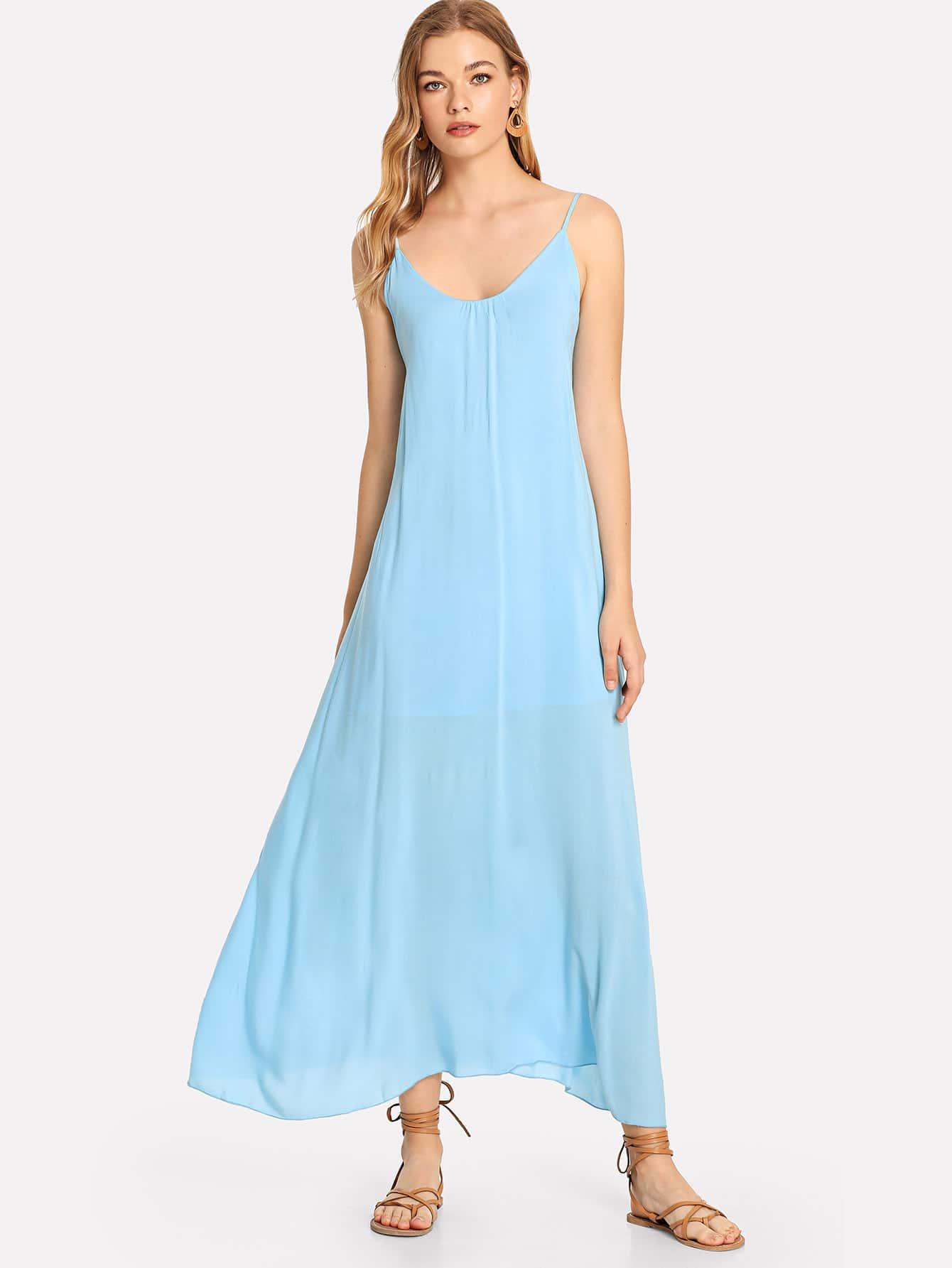 Купить Платье с твердой трапецией Ками, Teresa, SheIn