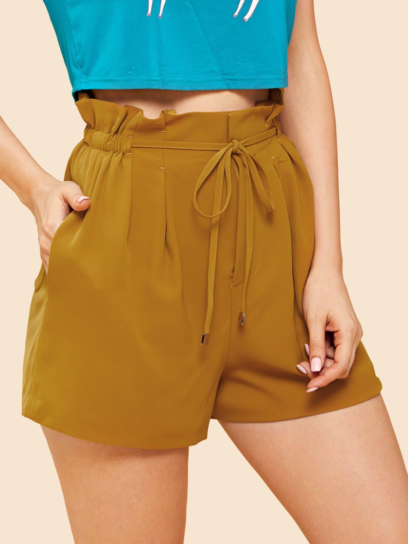 Купить Жесткие шорты, Julie H., SheIn
