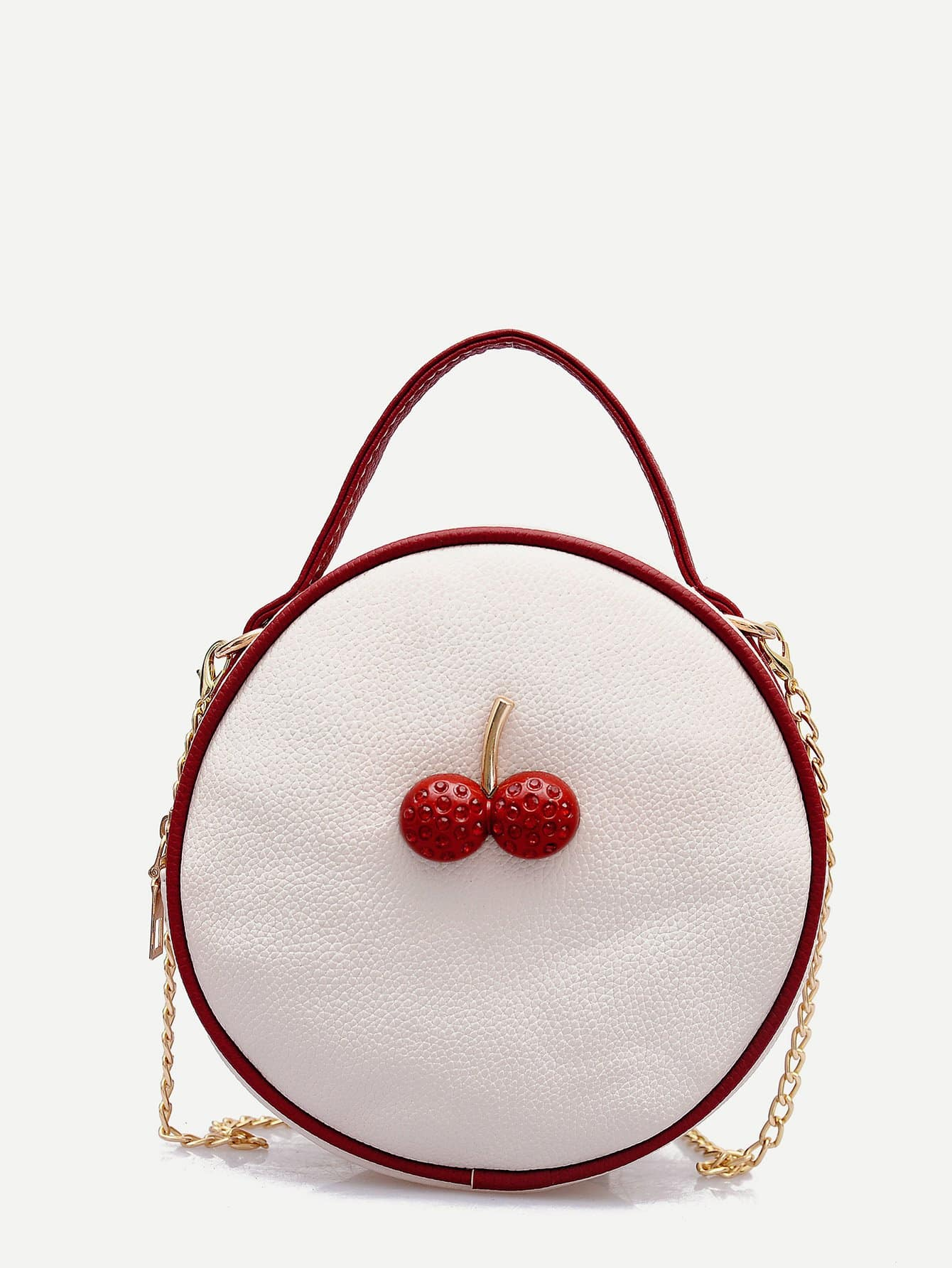 Fruit Decor Round Shaped Chain Bag