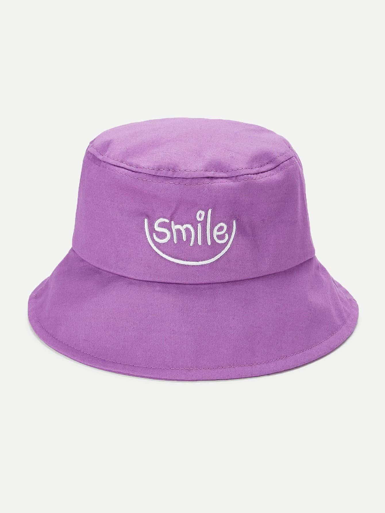 Купить Шляпа-ведро с рисунками букв вышивки, null, SheIn