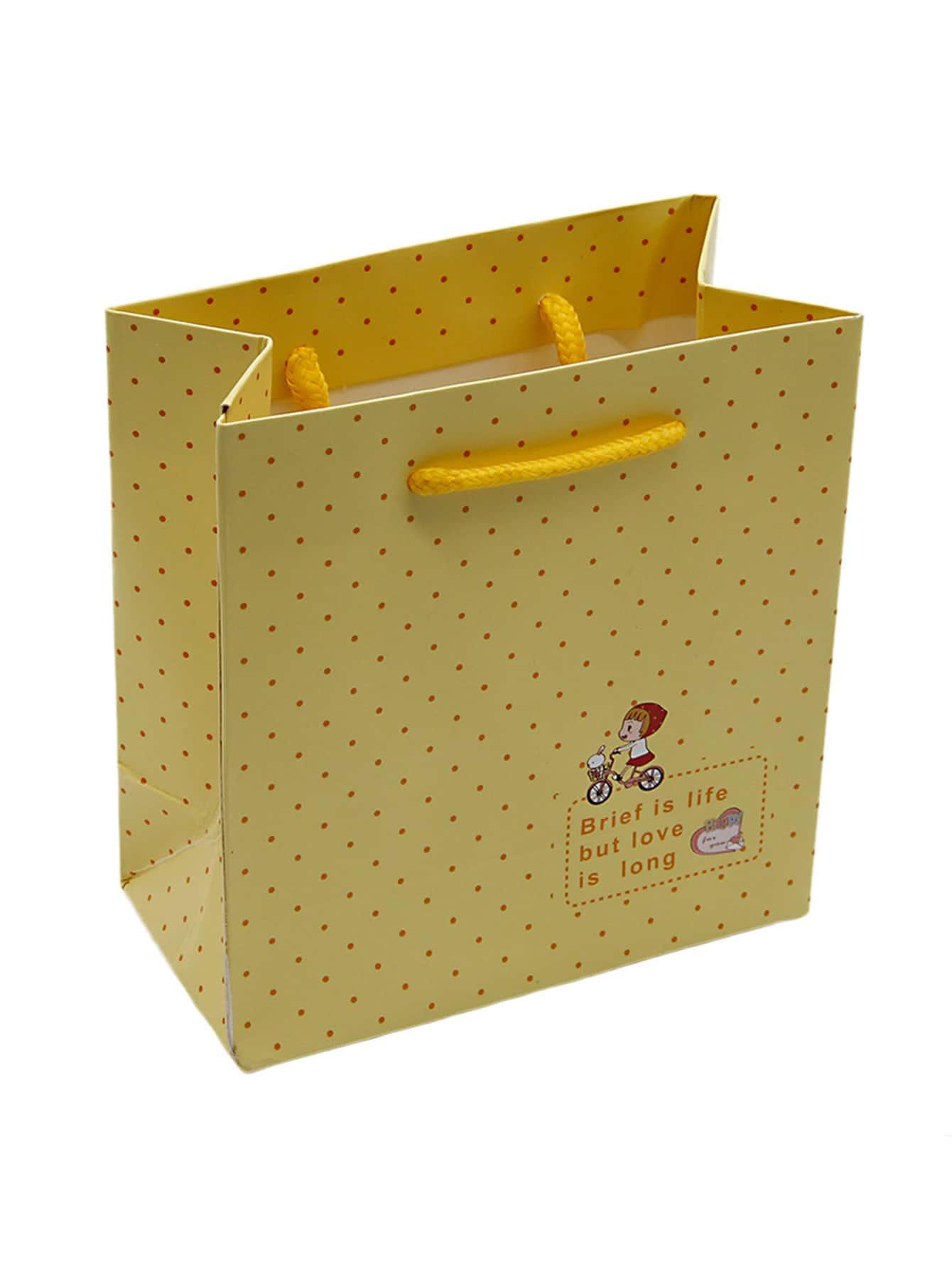 Купить Бумажная сумка для бумаги Polka Dot, null, SheIn