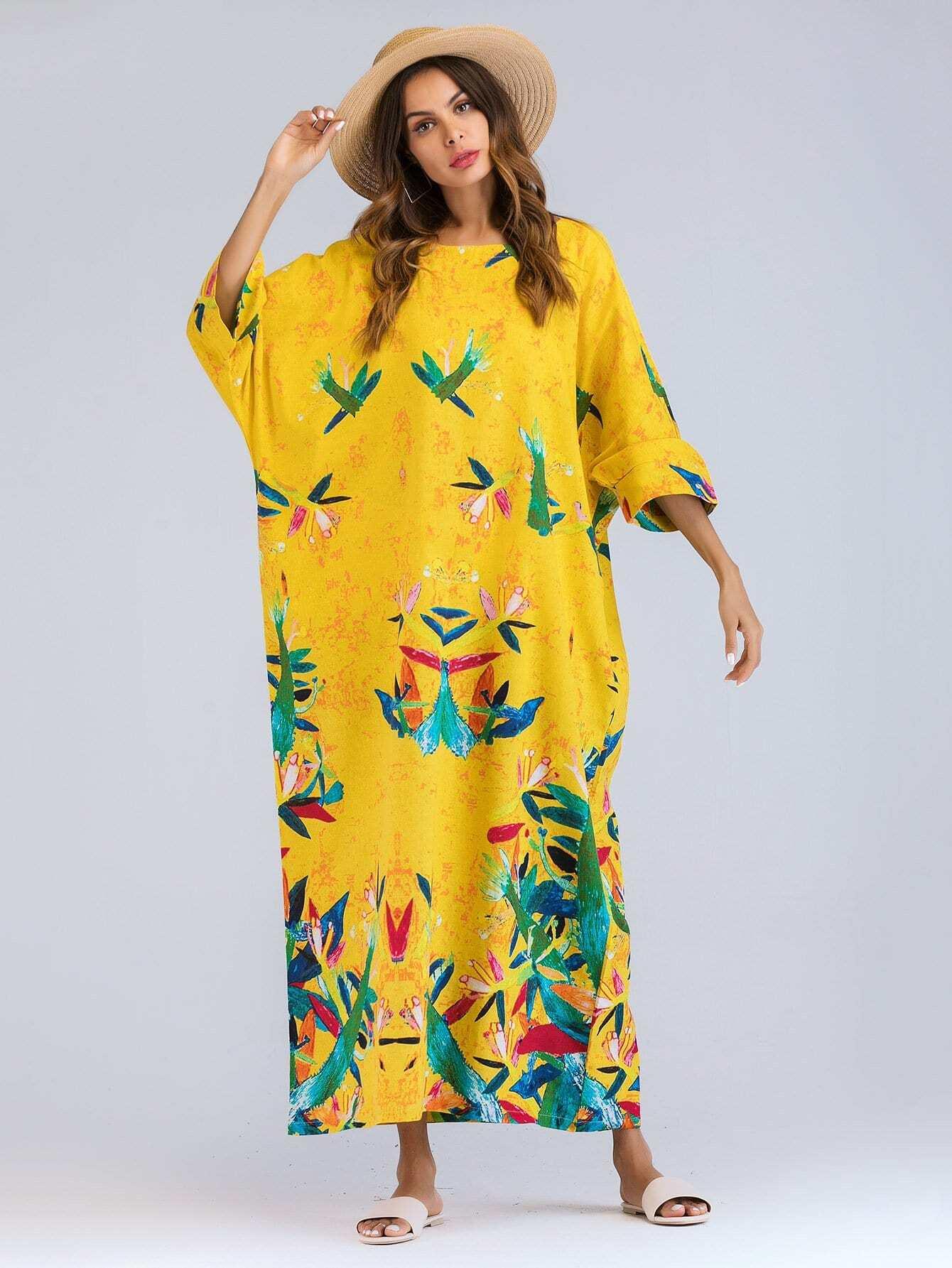 Купить Graffiti Print Longline Dress