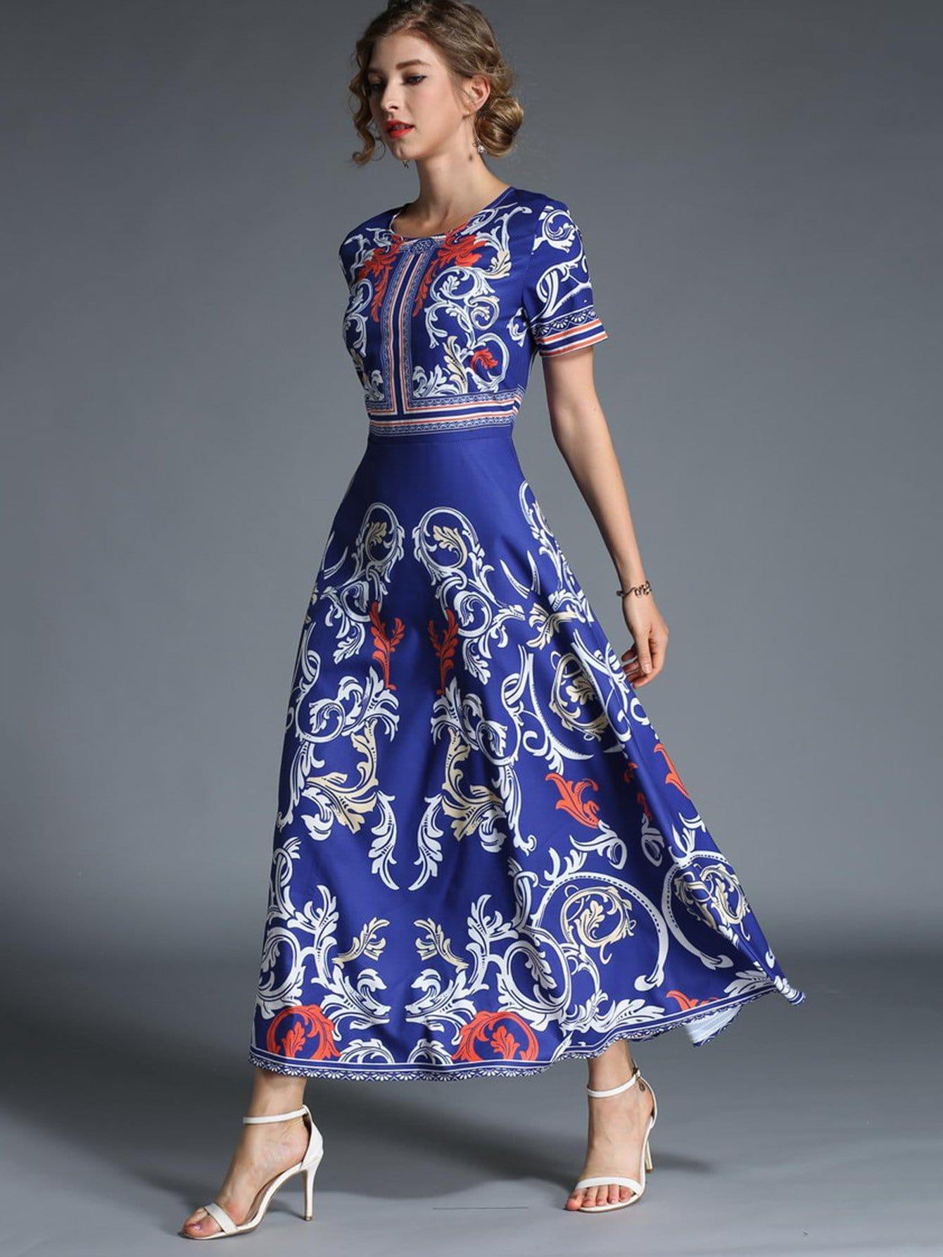 Купить Платье с рисунками живописи, null, SheIn