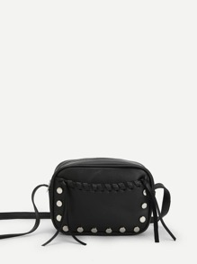 Stitch Detail PU Crossbody Bag
