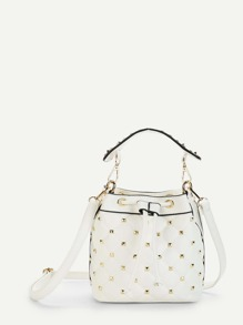 Quilted Crossbody Bag With Handle