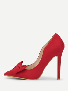 Bow Decorated Pointed Toe Heels