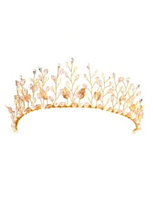 Crystal & Faux Pearl Decorated Tiara