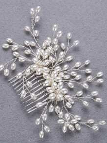 Faux Pearl Decorated Hair Pin