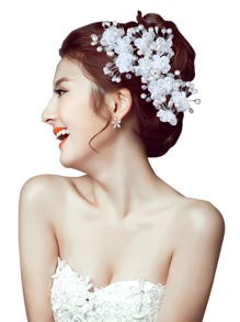 Flower Decorated Hair Pin