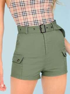 Cargo Shorts with Belt