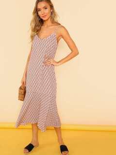 Petal Print Flowy Midi Dress