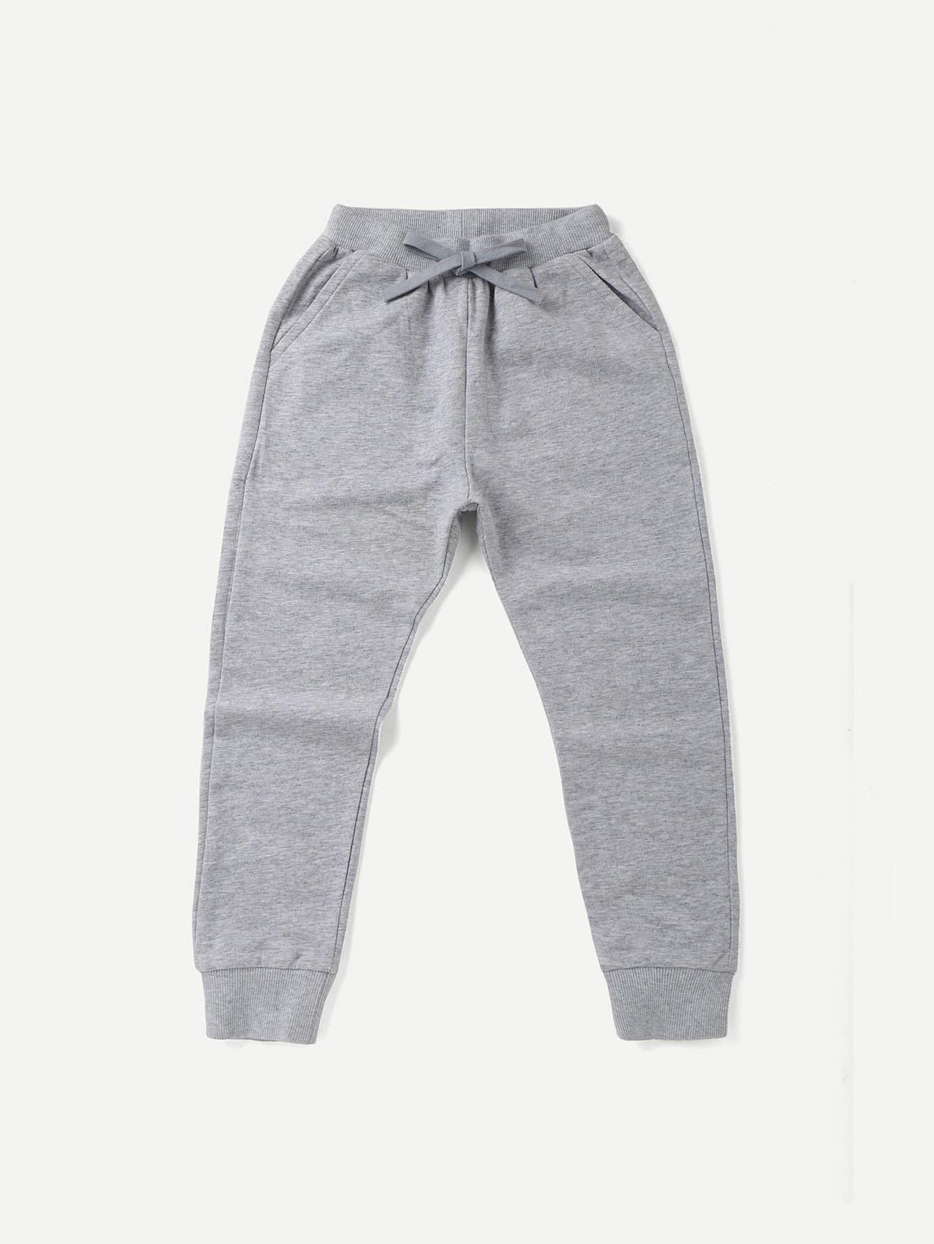 Купить Плоские полосатве брюки и с басоном эластичным для мальчика, null, SheIn
