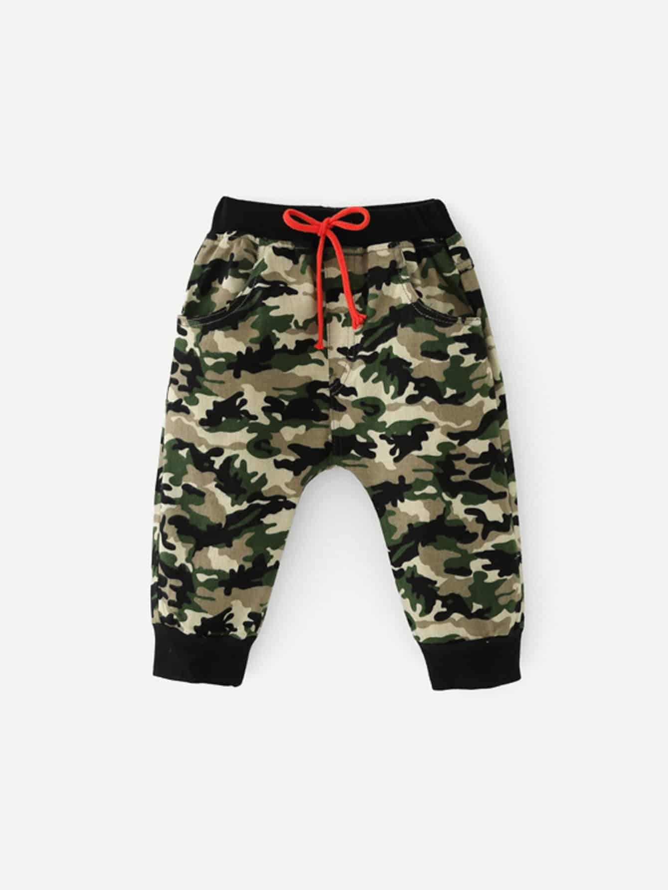 Купить Камуфляжные брюки с басоном эластичным для мальчика, null, SheIn