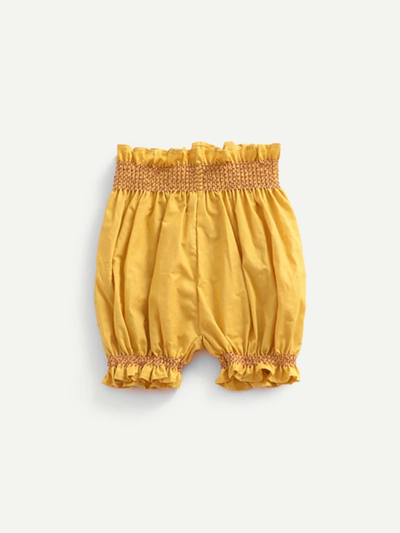 Girls Frill Hem Plain Shorts цена 2017