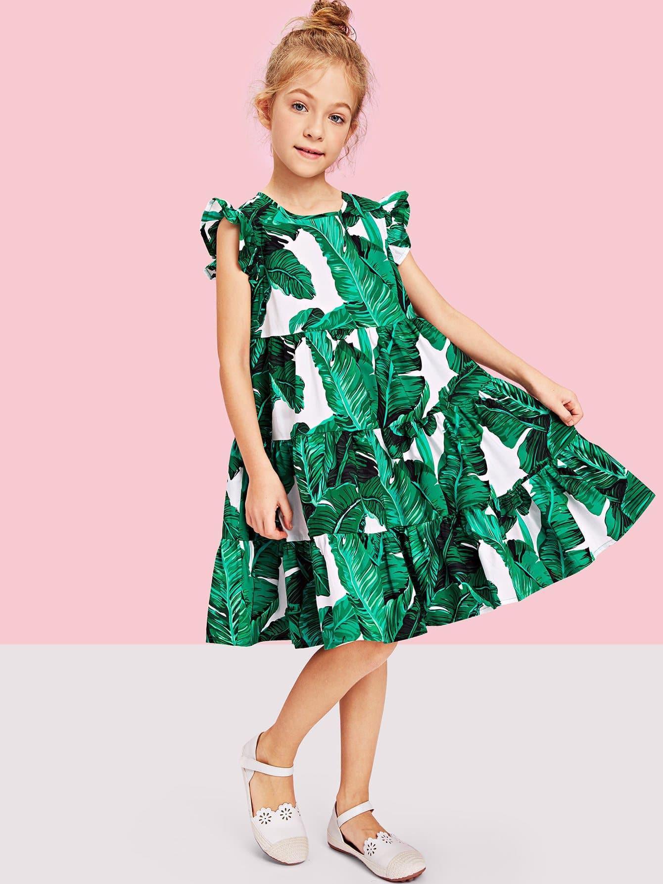 Купить Платье для обложки из тропической печати, null, SheIn