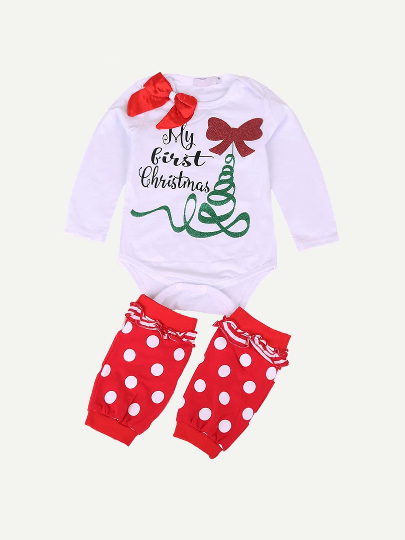 Girls Bow Detail Letter Print Jumpsuit letter print jumpsuit