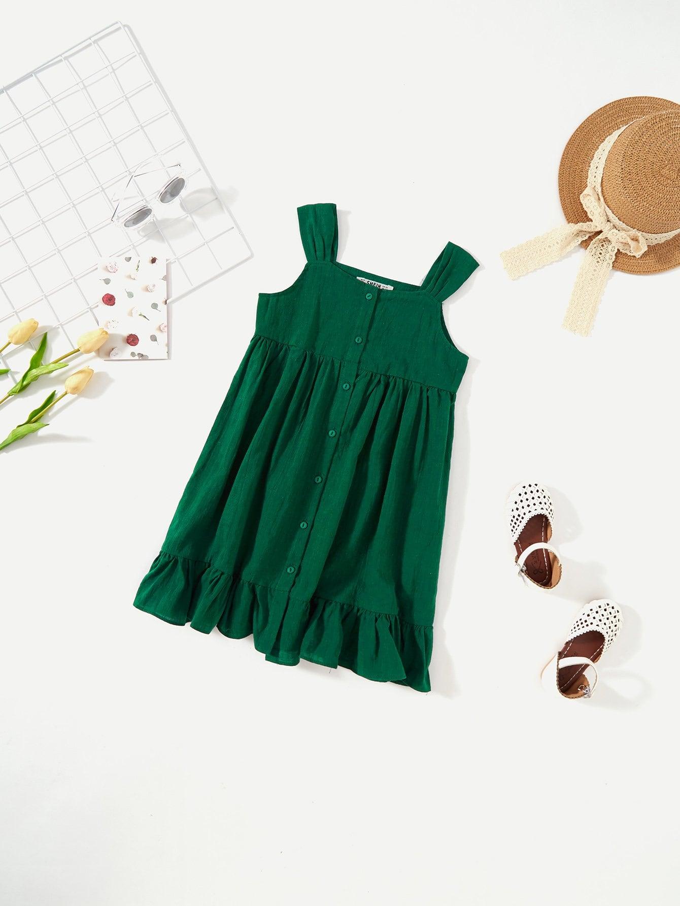 Купить Платье для девочек с плотным ремешком для девочек, null, SheIn