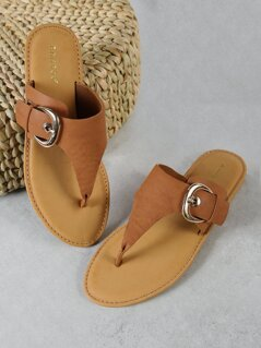 Thong Sandal with Buckled Band