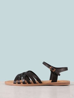 Multi Strap Criss Cross Sandal
