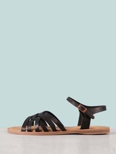 Multi Strap Criss Cross Sandal