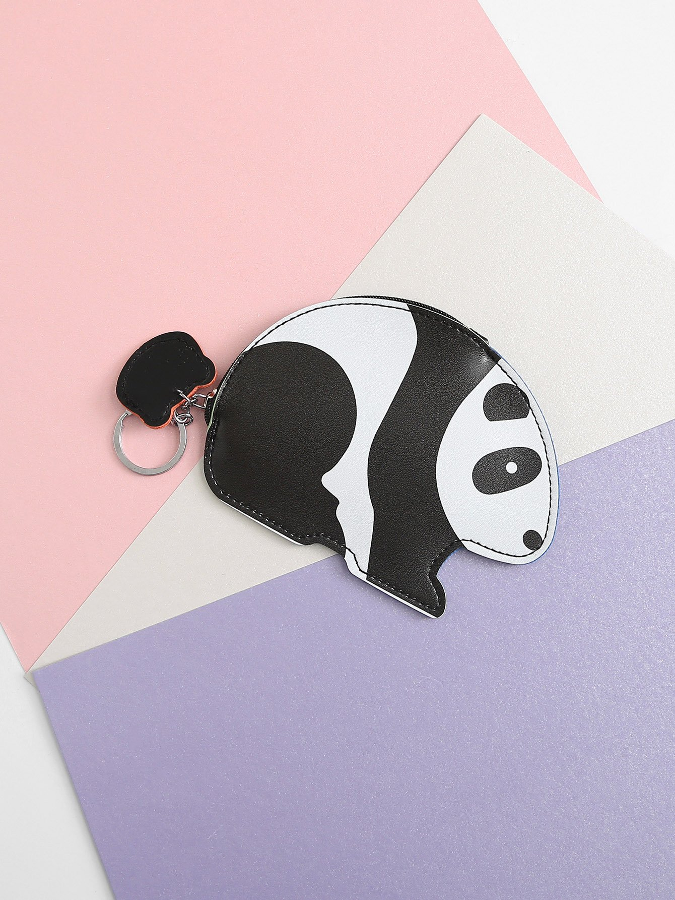 Panda Shaped Coin Purse 2017 cute girls coin purses small coin bag key ring kawaii bag kids mini wallet card holders leather cartoon coin purse1bw73
