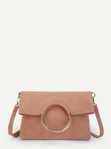 Ring Handle Bag With Clutch