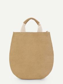 Curved Base Tote Bag
