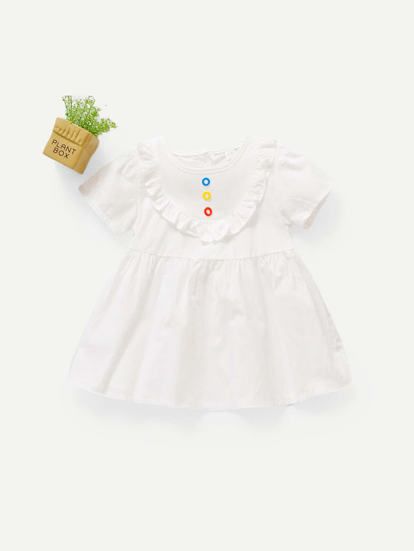 Купить Платье со складками и с украшением бабочки для девочки, null, SheIn
