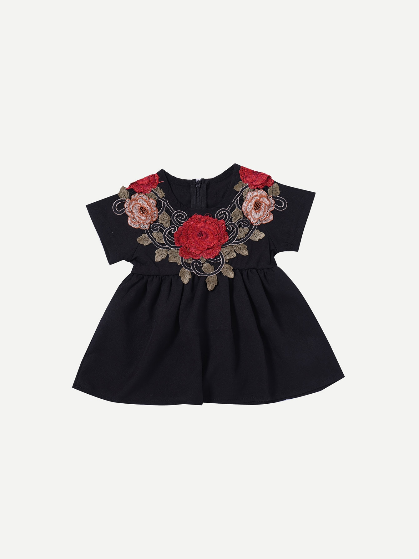 Girls Appliques Pleated Dress philips d2301b 51