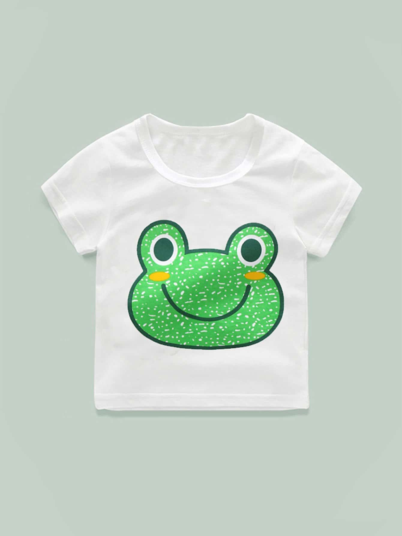 Girls Frog Print Tee polaris am pilgrim