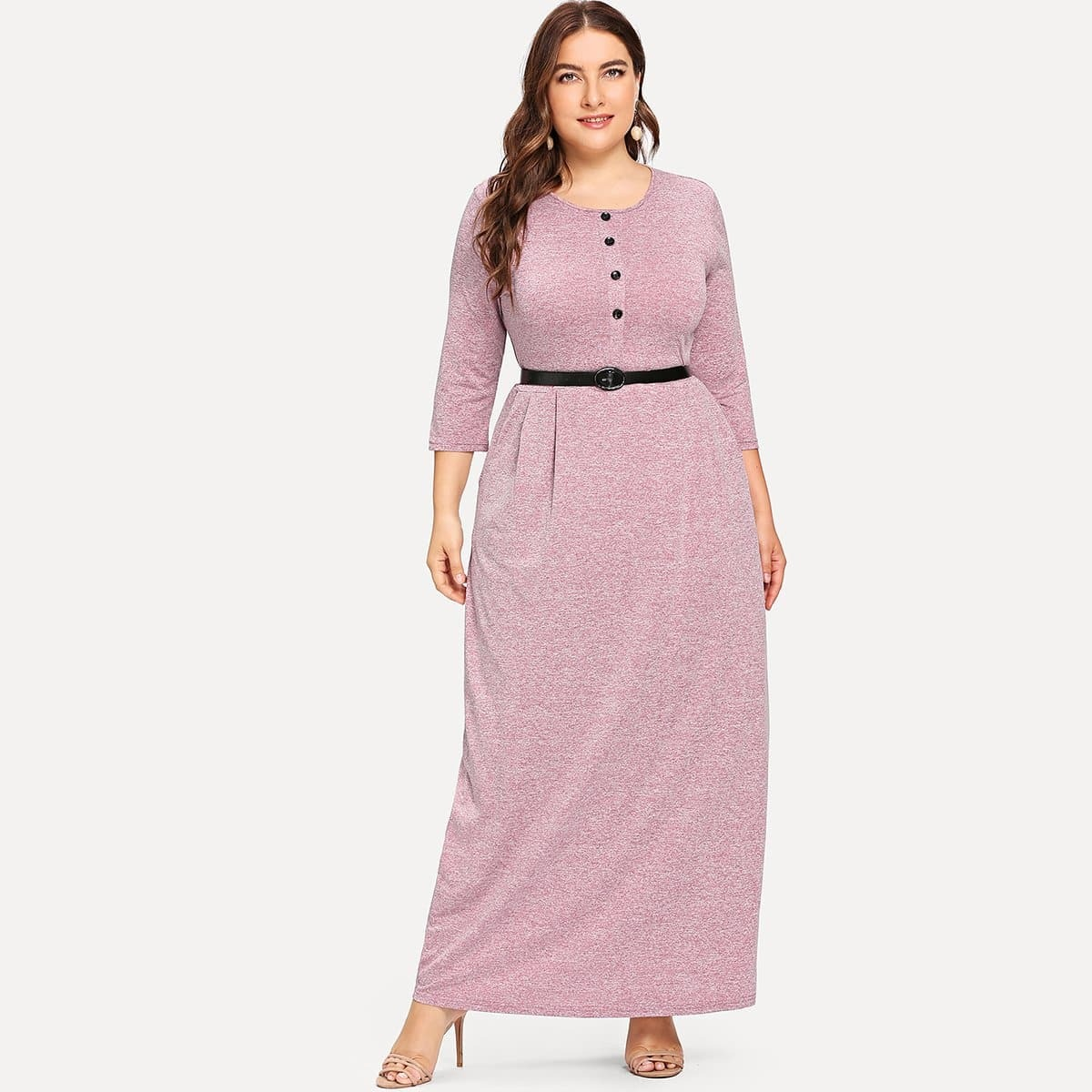 Maxi-jurk met riem